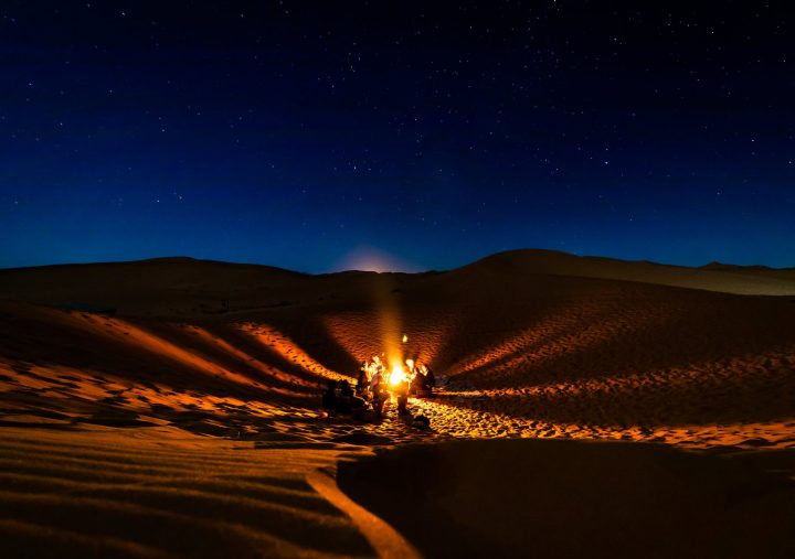 https://www.pexels.com/photo/people-having-bonfire-at-desert-at-night-1703317/