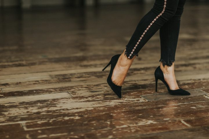 https://www.pexels.com/photo/woman-wearing-black-suede-stilettos-2044228/