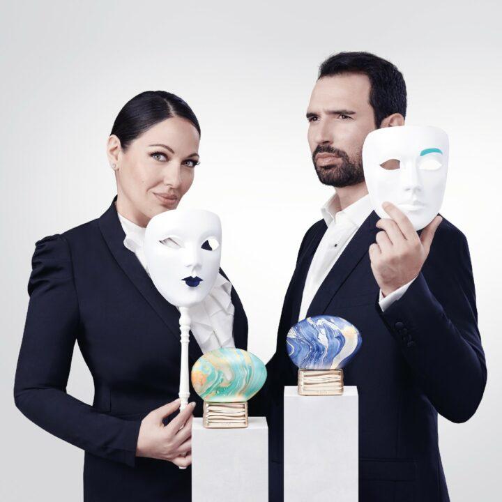 Nino Machaidze und Guido Loconsolo mit den Parfums Up to the Moon und Get the Feeling von THoO