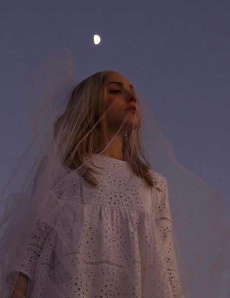 https://www.pexels.com/photo/peaceful-woman-in-veil-against-moon-in-darkness-5244427/
