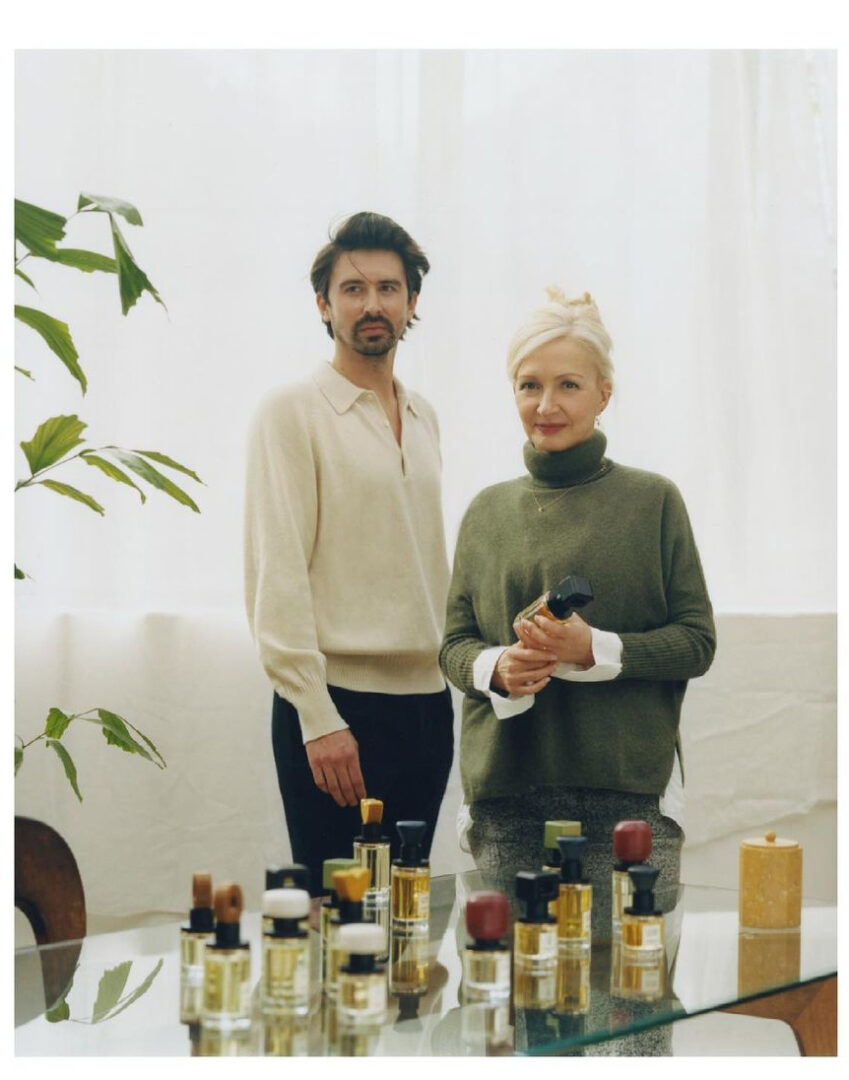 Baptiste Bouygues mit seiner Mutter Marie-Lise Jonak, Gründer von Ormaie